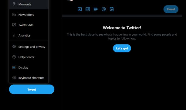 How to create a Twitter Moment - Step 1